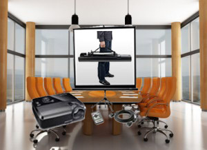 Projector and Screen for small meeting