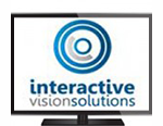 Plasma TV with Interactive Vision Solutions Logo